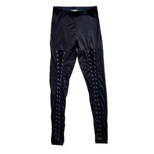 4/$30* Streetwear Society Black Lace Up Leggings